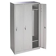 Lockers Oficina 3 cuerpos - 3 puertas, cerradura 2 llaves