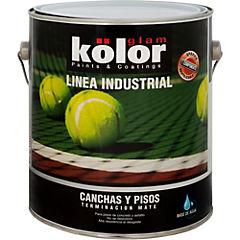 Esmalte Epóxico Pisos y canchas 1 galón Verde