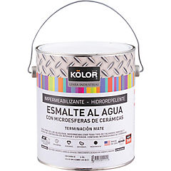 Esmalte impermeabilizante al agua mate 1 gl blanco