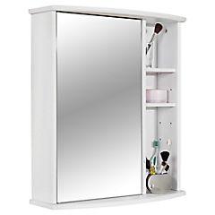 Botiquín para baño 66,2x58x22 cm Blanco