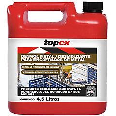 Bidón 4.5 litros Desmoldante Topex Desmol metal