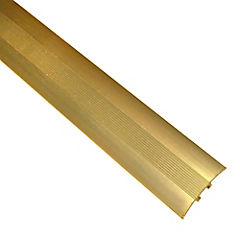 Cubrejunta tarugo con tornillos 1 mt Oro