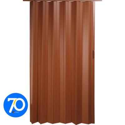 Puerta closet plegable pvc caoba 120x200cm for Sodimac banos precios