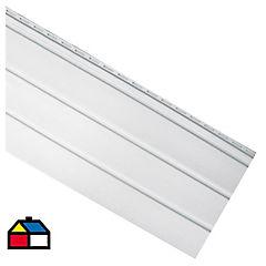0,40 x 3,66 m Perfil bajo alero sólido blanco