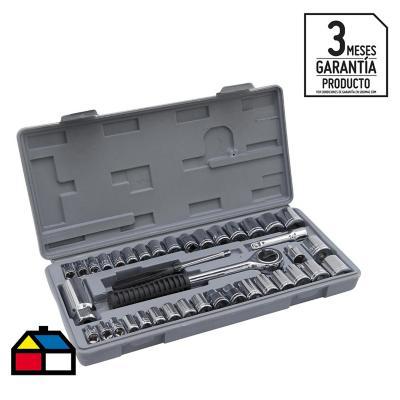 Set 40 piezas herramientas mec nicas dados for Llave de ducha sodimac