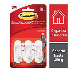 Gancho Pequeño Blanco 3 unidades
