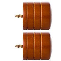 Set de terminales para barra de cortina 19 mm 2 unidades Chocolate