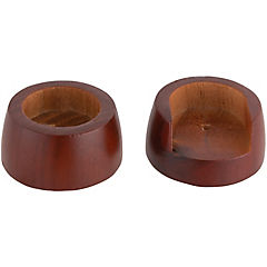 Soporte lateral madera chocolate 28mm, 2 unidades