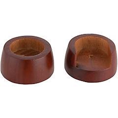 Set de soportes para barra de cortina 28 mm 2 unidades Chocolate