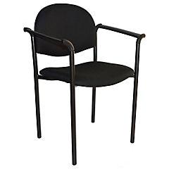 Silla con brazos tapizada Confort Tiziano negro
