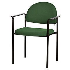 Silla con brazos tapizada Confort Tiziano verde botella
