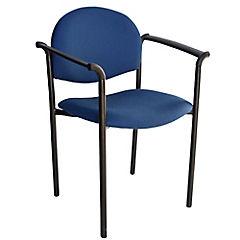 Silla con brazos tapizada Confort Tiziano azul