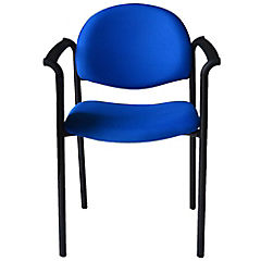 Silla con brazos tapizada Confort Tiziano azul reina