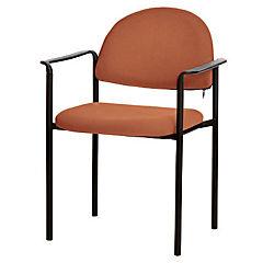 Silla con brazos tapizada Confort Tiziano cobre