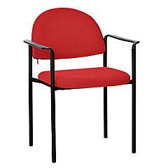 Silla con brazos tapizada Confort Tiziano rojo