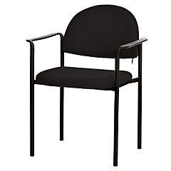 Silla con brazos tapizada Confort Trento negro