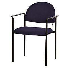 Silla con brazos tapizada Confort Trento azul