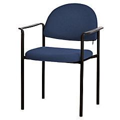 Silla con brazos tapizada Confort Trento azul rey