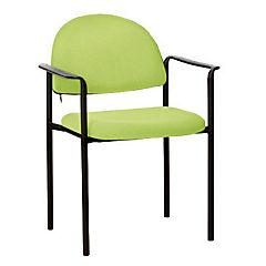 Silla con brazos tapizada Confort Ecocuero verde agua