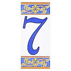 Número 7 de cerámica 6.5 x 15 cm
