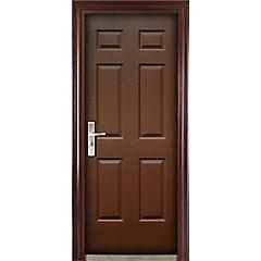 Puerta seguridad acero con marco derecho 86 x 205 cm