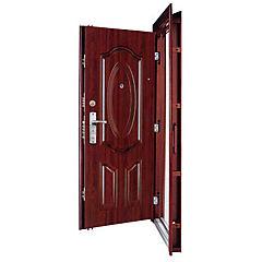 Puerta seguridad acero con marco derecho 86x205 cm