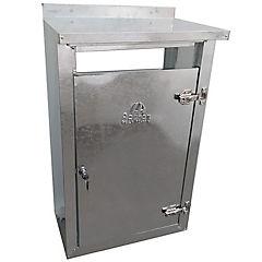 Gabinete para calefon con toldo metal 80x45x31 cm