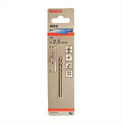 Broca metal hssg 2.5 mm 2 unidades