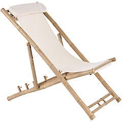 Silla buque Bambú natural blanco