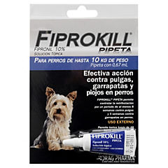 Fiprokill para perro pipeta 2 a 10 kilos