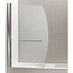 Mampara para ducha 140x90 cm vidrio templado