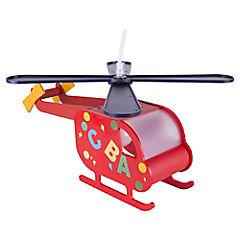 Lámpara Colgar Infantil Helicóptero Plástico