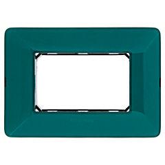 Placa  para 3 modulos Matix esmeralda