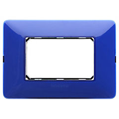 Placa  para 3 modulos Matix cobalto