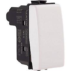 Interruptor pulsador 10A blanco Matix
