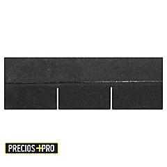 305 x 914mm Teja asfáltica gravillada Classic Negro