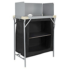 Mesa para cocina con paraviento y alacena