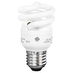 Ampolleta ahorro 8 Watts Luz fría Espiral