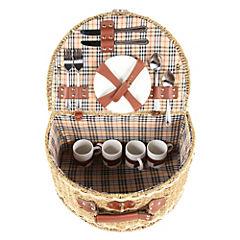 Canasto picnic 4 personas semi ovalado