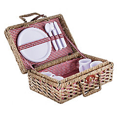 Set de picnic rectangular 4 personas mimbre