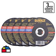 Pack 5 Discos Corte Metal 4.5
