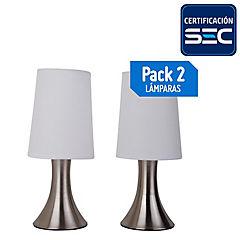 Set lámparas de mesa 40 W 2 unidades
