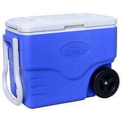 Nevera rígida con tirador 2 ruedas 37 litros azul