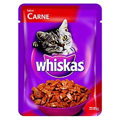 Alimento seco gatos adultos sabor carne 85 gramos