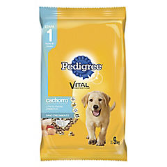 Alimento seco para cachorro 9 kg carne, pollo y leche