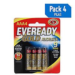 Pila Eveready Gold Alcalina AAAX4