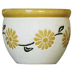 Macetero de cerámica 30x21 cm Amarillo