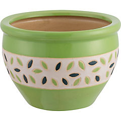 Macetero de cerámica 30x21 cm Verde