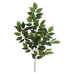 Vara Hojas Rosa Verde 64 cm x 3