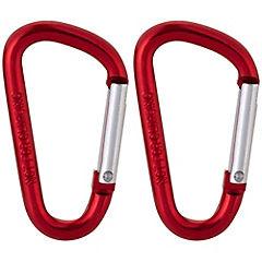 Mosquetón aluminio rojo 5 x 50mm 2 unidades